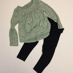 Super soft hi-low hem long sleeved top